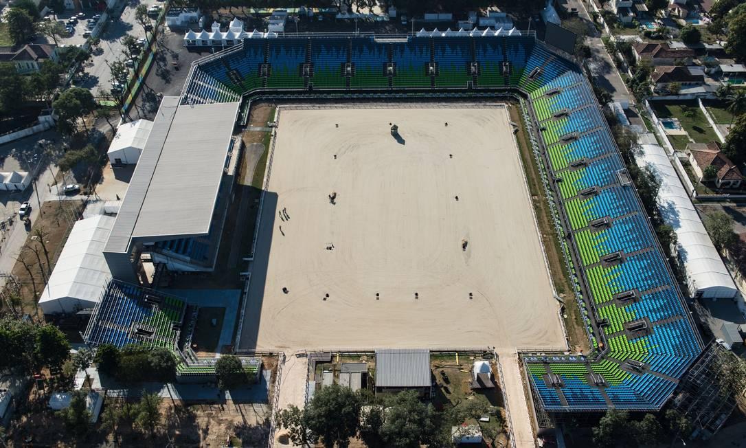 O Centro Olímpico Equestre, onde acontecerão as competições de cross-country YASUYOSHI CHIBA / AFP