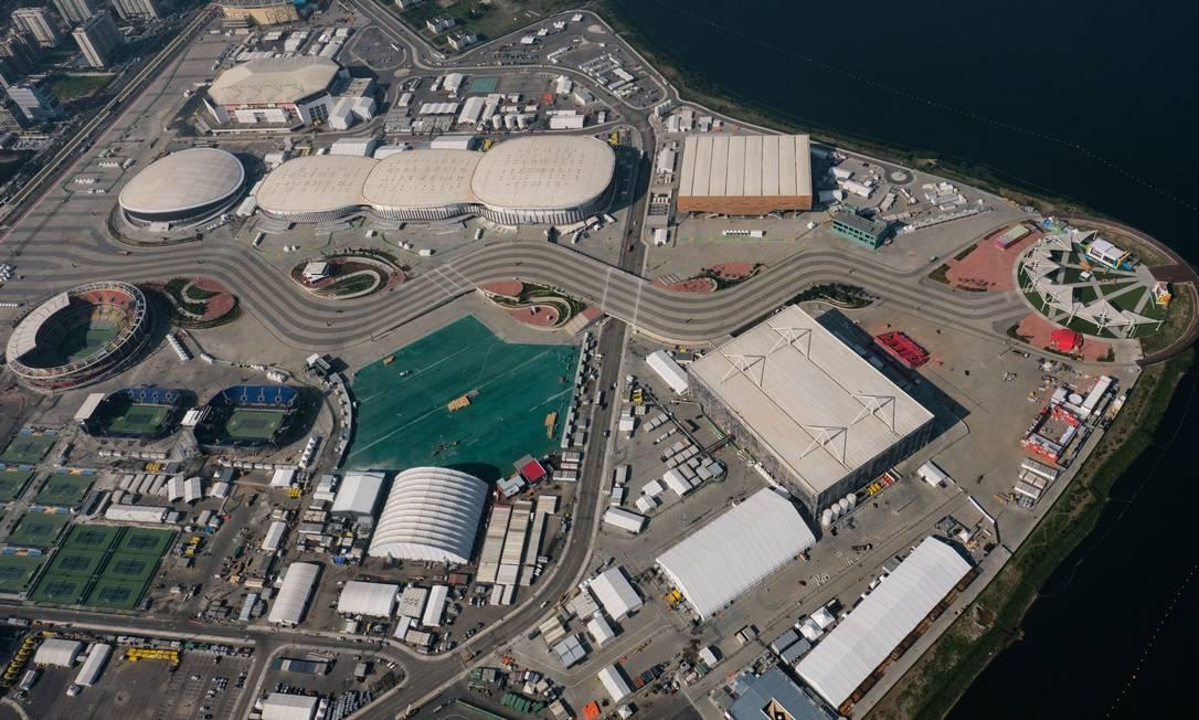 Uma vista aérea do Parque Olímpico YASUYOSHI CHIBA / AFP