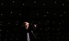 Donald Trump discursa durante comício em Cedar Rapids, em Iowa Foto: CARLO ALLEGRI / REUTERS