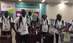 Atletas refugiados do Sudão do Sul desembarcam no Rio de Janeiro Foto: Rio 2016/André Naddeo