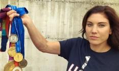 Hope Solo exibe medalhas Foto: Reprodução/Instagram