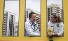 Felipe Wu e Rosane Budag, o casal do tiro esportivo Foto: Alexandre Cassiano / Agência O Globo