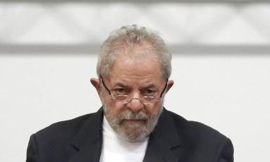 O ex-presidente Luiz Inacio Lula da Silva vira réu na Justiça Federal do Distrito Federal Foto: Edilson Dantas / Agência O Globo