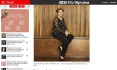 Reportagem com Dilma no site da Revista Time Foto: Reprodução