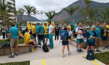 Prédio da delegação da Austrália foi evacuado após princípio de incêndio Foto: Reprodução/Twitter