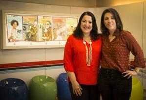 Vera Costinhas e Raquel Brandão, da Cultura Inglesa: a empresa estimula o desenvolvimento Foto: Agência O Globo