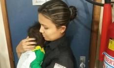 Bebê de seis meses é encontrado abandonado por policiais Foto: Divulgação