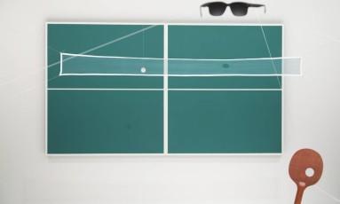'Ping-ping, a construção do abismo no piscar dos cegos' (1980), de Waltercio Caldas, uma das instalações em exibição no MAM Foto: Leo Martins / Agência O Globo