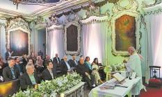 A missa foi realizada na Igreja de São Francisco de Paula Foto: Gabriel de Paiva