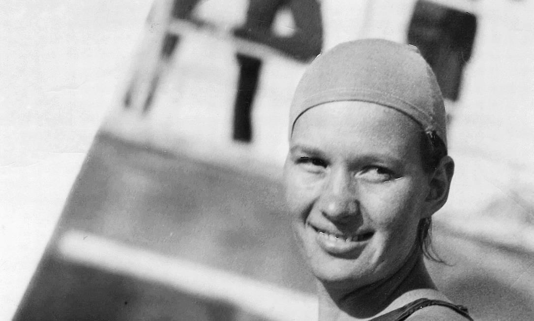 Rio de Janeiro (RJ) - 1936 - Maria Lenk (Nadadora) - Foto Arquivo / Agência O Globo - Sem negativo Agência O Globo