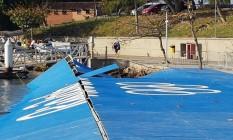 A rampa destruída na Marina da Glória Foto: Foto: Globoesporte.com