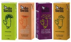 Embalagens da Sucos do Bem, carioca que teve uma fatia comprada pela Ambev Foto: Agência O Globo