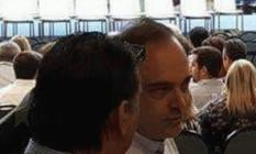Carlos Roberto Osório, candidato do PSDB à sucessão municipal, em inauguração da linha 4 Foto: Fiscalização