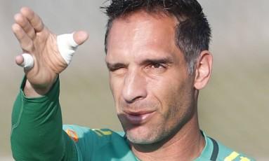 O goleiro Fernando Prass foi cortado da seleção brasileira olímpica devido a uma fratura no cotovelo Foto: Antonio Scorza / Agência O Globo