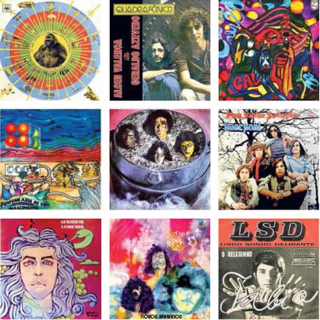 Capas de discos psicodélicos brasileiros dos anos 1970 Foto: Reproduções