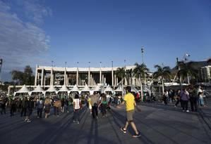 Ensaio geral da cerimônia de abertura para a Olimpíada reuniu mais de 47 mil pessoas no Maracanã Foto: Alexandre Cassiano / Agência O Globo