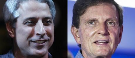 Molon e Crivella são candidatos à prefeitura do Rio Foto: Reprodução