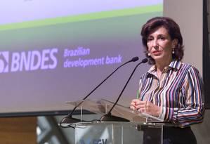Maria Silvia Bastos, presidente do BNDES, afirma que país vive período de decadência Foto: Leo Martins / Leo Martins/13-07-2016