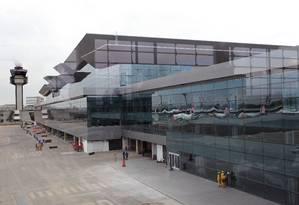 O terminal 3 do aeroporto internacional de Guarulhos, em São Paulo, destinado a voos internacionais Foto: Fernando Donasci 10/05/2014 / Agência O Globo