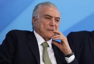 O presidente interino Michel Temer Foto: André Coelho / Agência O Globo 01/08/2016