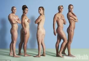 Heather Fisher, Amy Wilson-Hardy, Michaela Staniford, Danielle Waterman and Claire Allan Foto: Reprodução/Women'sHealth