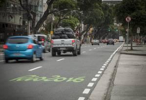 Vias do Centro são bloqueadas para a cerimônia de encerramento Foto: Analice Paron / Agência O Globo