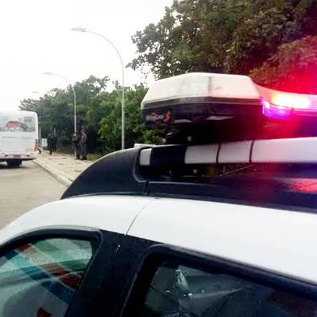 Patrulha da PM reforça segurança em ponto de ônibus de Natal (RN) Foto: Divulgação