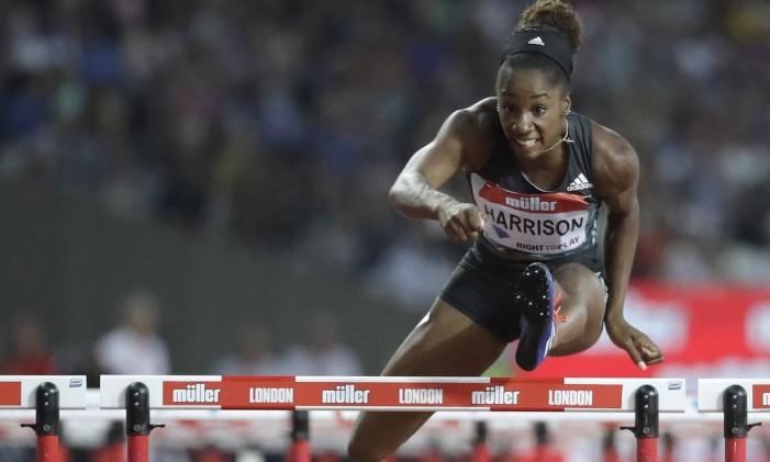 Kendra Harrison. Americana, número um do mundo nos 100 metros com barreiras, não se classificou para os jogos do Rio Foto: Matt Dunham / AP