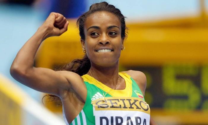 Etíope Genzebe Dibaba é a recordista mundial dos 1.500 metros e busca primeiro ouro olímpico Foto: Wikimedia Commons