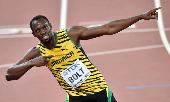 """Usain Bolt. Além de chance de recorde nos 100 metros rasos """"raio"""" jamaicano também busca tricampeonato nos 200 metros Foto: PEDRO UGARTE / AFP"""