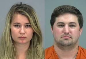 O casal Brianna e Brent Daley foi preso sob acusação de negligência e exposição de criança ao risco Foto: AP