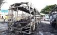 Ônibus incendiado em Natal