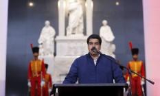 Presidente da Venezuela, Nicolás Maduro Foto: HANDOUT / REUTERS