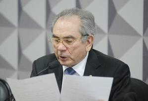 O senador Raimundo Lira (PMDB-PB) Foto: Pedro França / Agência Senado