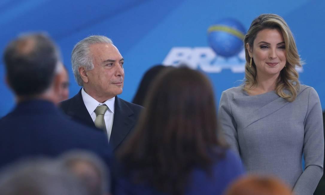 O salão nobre do palácio, o maior para eventos, foi utilizado raras vezes na gestão Temer Foto: ANDRE COELHO / Agência O Globo
