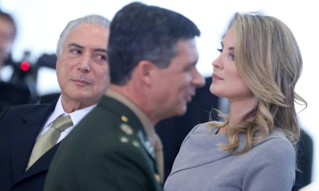 A primeira dama, Marcela Temer, participou pela primeira vez de solenidade do governo no dia 3 de agosto Foto: ANDRE COELHO / Agência O Globo