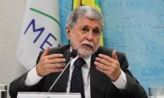 Celso Amorim, ex-ministro das Relações Exteriores e da Defesa Foto: Ailton de Freitas / Agência O Globo/27-3-2014