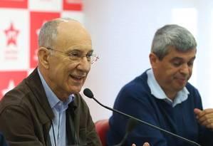 O presidente do PT, Rui Falcão, durante reunião da Executiva nacional do partido Foto: Paulo Pinto / Divulgação