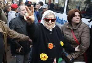 Hebe de Bonafini, presidente das Mães da Praça de Maio Foto: Jorge Saenz / AP