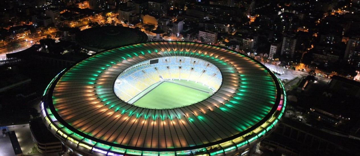 O Maracanã, palco da abertura da Olimpíada do Rio na noite desta sexta, dia 5 de agosto Foto: Genilson Araújo / Agência O Globo