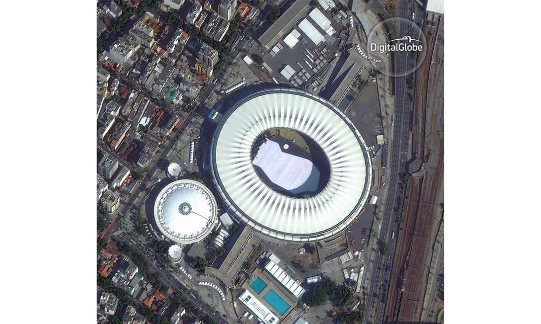 Maracanã, palco das festas de abertura e encerramentos dos jogos HANDOUT / DIGITALGLOBE