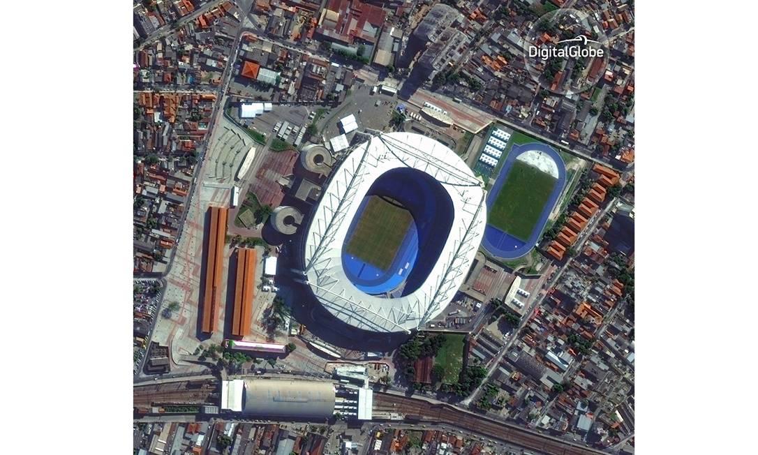 Engenhão, o Estádio Olímpico HANDOUT / DIGITALGLOBE