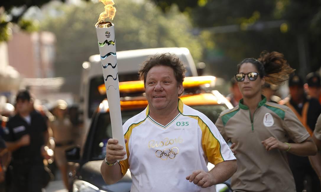 RJ - RIO-DE-JANEIRO - 05/08/2016 - REVEZAMENTO DA TOCHA RIO 2016 - Revezamento da Tocha Olimpica para os Jogos Rio 2016. Foto: Rio2016/Andre Luiz Mello Rio2016/Andre Luiz Mello / AGIF