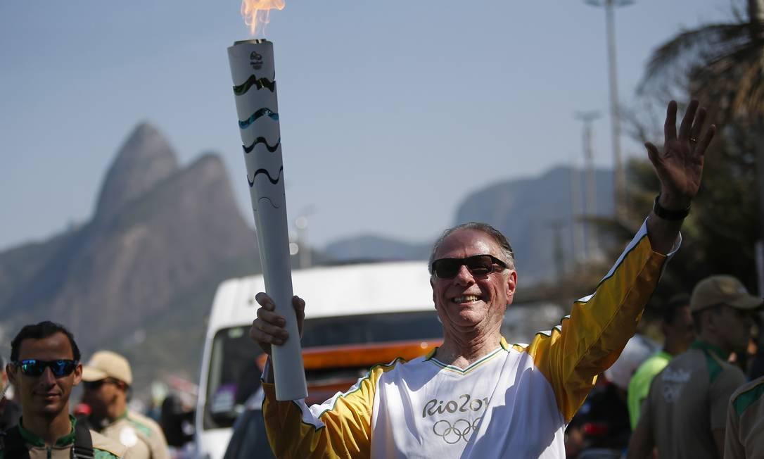 Revezamento da Tocha Olimpica para os Jogos Rio 2016 - Carlos Nuzman, presidente do Comitê Olímpico Brasileiro Rio2016/Andre Luiz Mello / AGIF