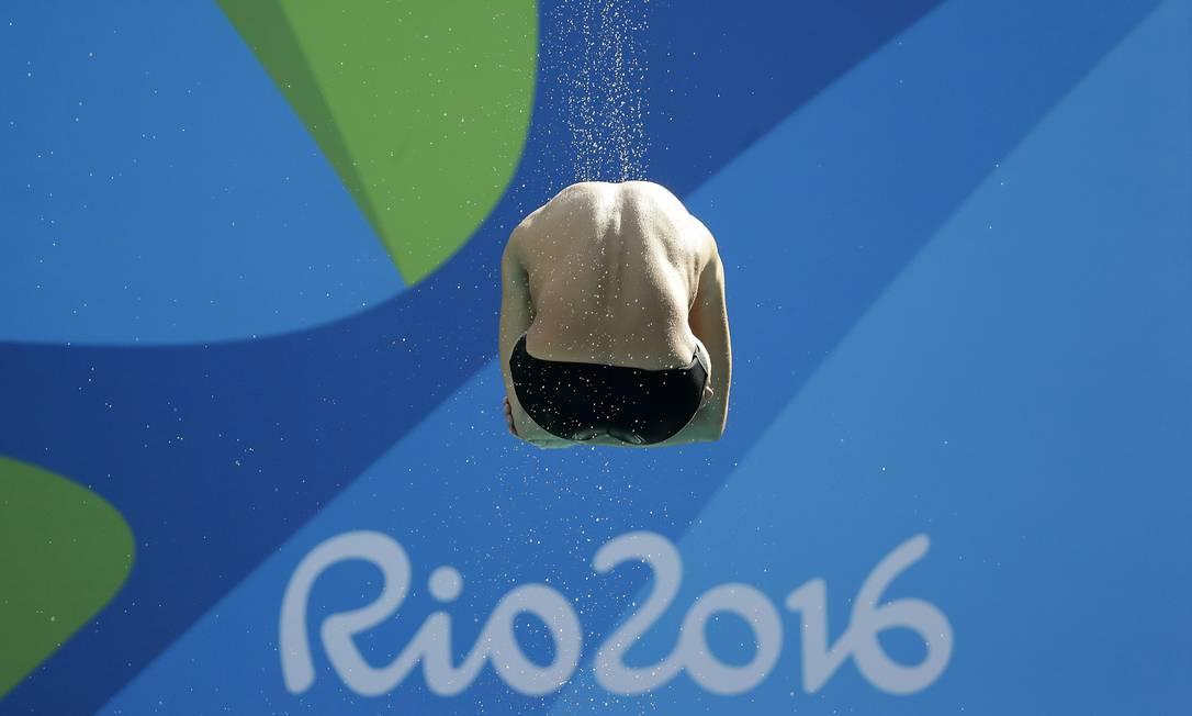 O Americano Sam Dorman participa de uma sessão de treinamento no Parque Aquático Maria Lenk antes dos Jogos Olímpicos de 2016 no Rio de Janeiro, Brasil, Sexta-feira, 5 de agosto de 2016. Wong Maye-E / AP