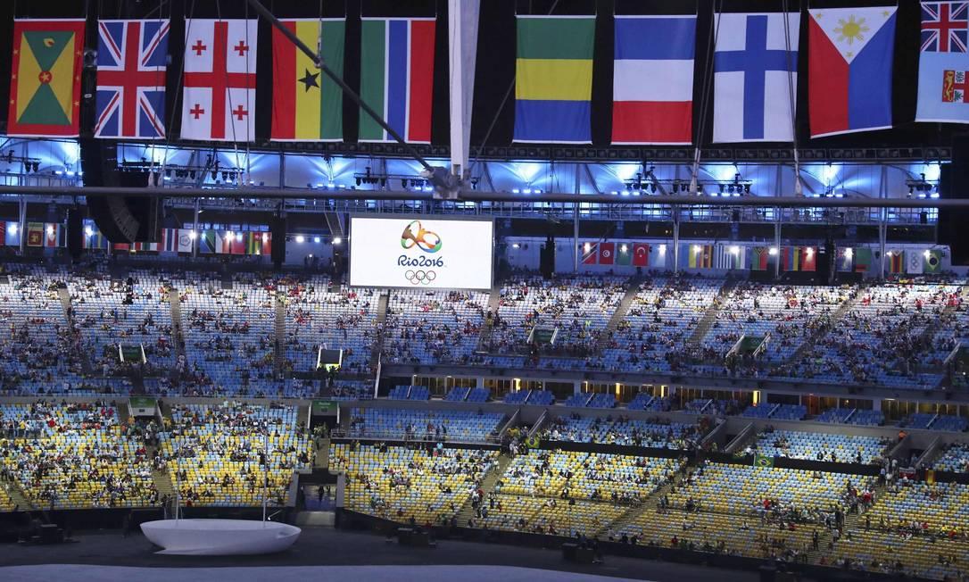 As bandeiras dos países participantes dos Jogos FABRIZIO BENSCH / REUTERS