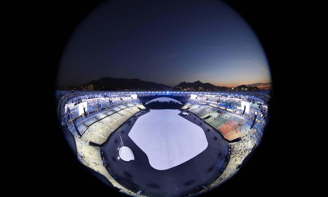 O Gigante do Maracanã de um ângulo pouco convencional PAWEL KOPCZYNSKI / REUTERS