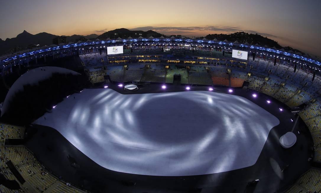 Uma imagem de grande beleza. Beleza, aliás, é o que sobra no Rio de Janeiro da Olimpíada Morry Gash / AP