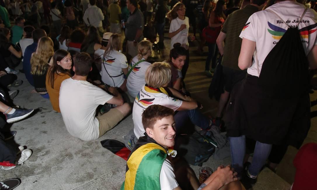 A bandeira brasileria é um dos adereços mais vistos Bárbara Lopes / Agência O Globo