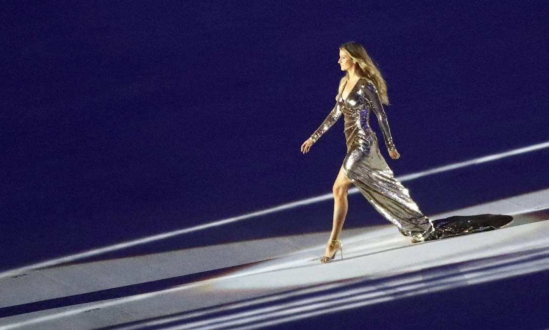 A top model Gisele Bundchen na festa de abertura da Olimpíada do Rio MIKE BLAKE / REUTERS